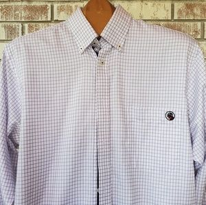 Southern Proper Purple/White Button Down